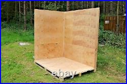 10 New Warehouse Container Wooden Removal Storage Box Ply Wood Crates 250 Cu Ft