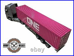 118 3-Axle 40 ft Shipping Container Truck Skeletal Trailer - NZG