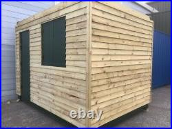 12ft x 8ft shipping container cladded Office London