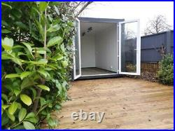 14ft x 8ft Shipping Container Garden Office/Beauty/Hair Salon Colchester