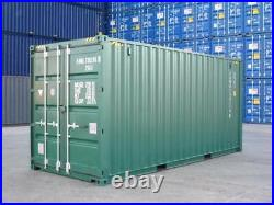 20ft NEW build Shipping container Blue or green. Cannock and Manchester plus vat