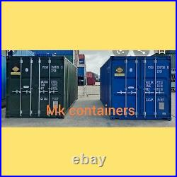 20ft NEW build Shipping container Blue or green. From Southampton plus vat