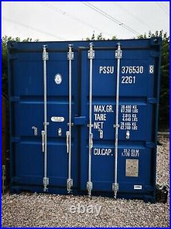 20ft New Shipping container Blue. Delivery Available Located In Torquay No vat