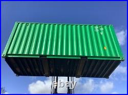 20ft shipping container high spec 20 x 8 x 8ft storage container green 1170cu ft