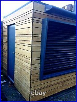 20ft x 8ft Cladded Food/Drink Outlet shipping container -Edinburgh