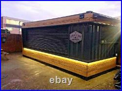 20ft x 8ft Cladded Food/Drink Outlet shipping container -Hull