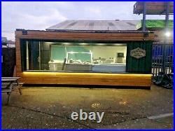 20ft x 8ft Cladded Food/Drink Outlet shipping container -London