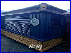 20ft x 8ft Cladded Food/Drink Outlet shipping container -South Wales