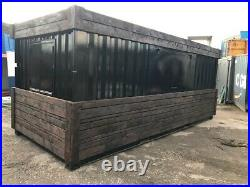 20ft x 8ft Cladded Food/Drink Outlet shipping container Swindon