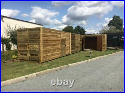 20ft x 8ft Cladded Shipping Containers with Extra Side Doors Birmingham