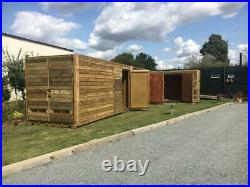 20ft x 8ft Cladded Shipping Containers with Extra Side Doors Liverpool