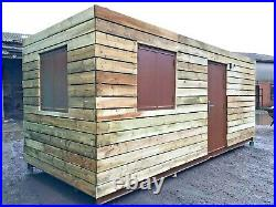 20ft x 8ft Fully Cladded Office shipping container -Preston