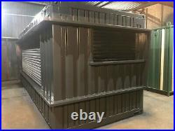20ft x 8ft Shipping Container Shop/Food Hut/Market Stall/Burger Bar North Wales
