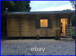 20ft x 8ft cladded Garden Retreat/Dog Grooming shipping container -Aberdeen