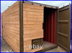 20ft x 8ft cladded shipping container Aberdeen