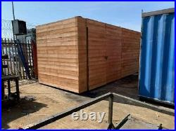 20ft x 8ft cladded shipping container Birmingham