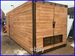 20ft x 8ft cladded shipping container Manchester