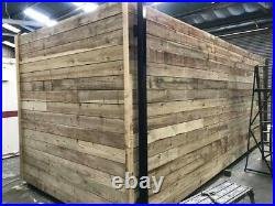 20ft x 8ft cladded shipping container with extra side door Birmingham
