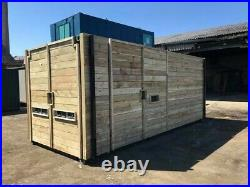 20ft x 8ft cladded shipping container with extra side door Leeds