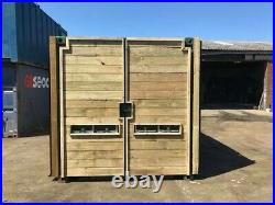 20ft x 8ft cladded shipping container with extra side door Manchester