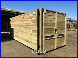 20ft x 8ft cladded shipping container with extra side door Preston