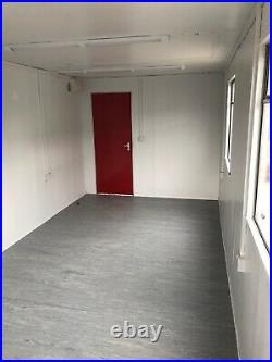 20ft x 9ft portable office cabin, open plan with brand new kitchen & new roof