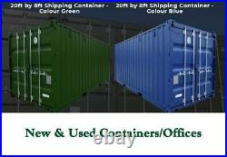 20x8ft One Trip shipping Containers New In Stock Wales CF45 4EP