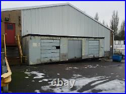 30 ft storage container, insulated, requires new doors