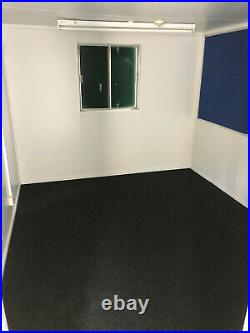 32ftx10ft anti vandal double office, toilet & brand new kitchen portable cabin