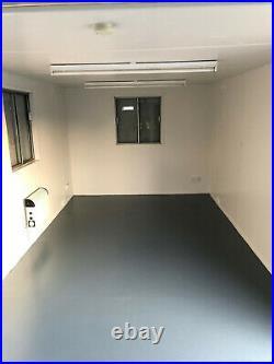 32ftx10ft anti vandal open plan office, toilet & brand new kitchen portable cabin