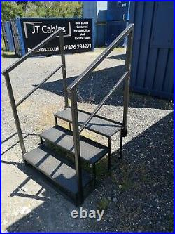 3 tread steps, shipping container, site toilet, portable, Southampton, £325+VAT