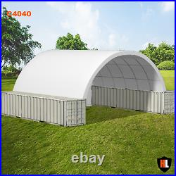 40 x 40 FT SHIPPING CONTAINER CANOPY / SHELTER, SHED GALVANISED STEEL FRAME