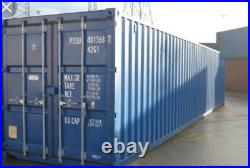 40ft NEW / FIRST TRIP Shipping container. From Southampton & Midlands