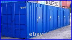 40ft New Build Shipping container, Converted with 5 doors for self storage + vat