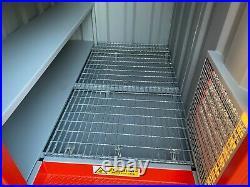 7ft x 5ft (2.2m x 1.6m) Secure Walk In Steel Chemstore/Hazardous Material Store