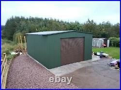 Big Workshop 17x22ft Garage for Gym, Motorbike Garden Motorhome Shed & Storage
