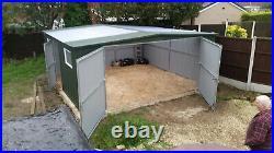 Big Workshop 18x18ft Garage for Car, Motorbike Garden Equipment Shed & Storage