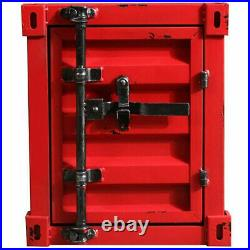 CGC Red Industrial Retro Shipping Container Vintage Table Storage Bedside UK