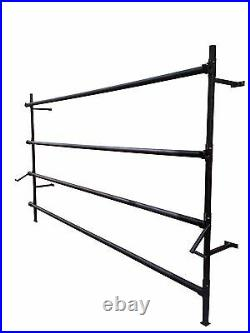Carpet stand 4 metre 4 roll stand wall fixer