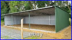 Carport Garage 33x17ft Shelter Shed Farm Building Steel Tractor Storage Stable