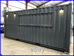 Catering unit converted shipping container