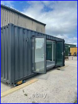 Container conversion, container office, portable office, modular office, office