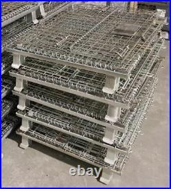 EURO STEEL WIRE HYPER CAGE STORAGE STILLAGE CAGE SIZE 120 cm x 80 cm x 80 cm