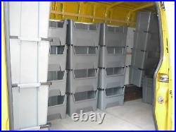 EXTRA Large Plastic Van Shelving Storage Bins Boxes stackable space bin X 10