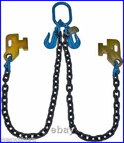 G100 3/8 Cargo Shipping Sea Container Chain Bridle Loading Chain Tow Truck