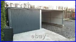 Garage + Carport 23x17ft Car Port, for Motorbike Extension Shed Storage Workshop