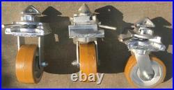 ISO Shipping Container Castor Wheels c/w Twistlocks + 360 Swivel @ 4000kg each