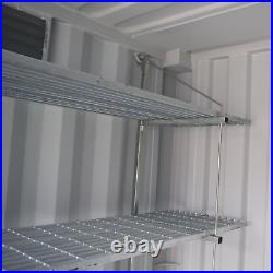 Industrial Shelving System for Shipping Containers (Container Not Included)