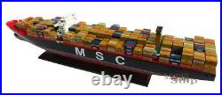 MSC Oscar Container Wooden Ship Model Display Ready