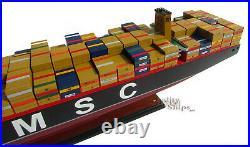 MSC Oscar / MSC Maya Container Wooden Ship Model Display Ready 40